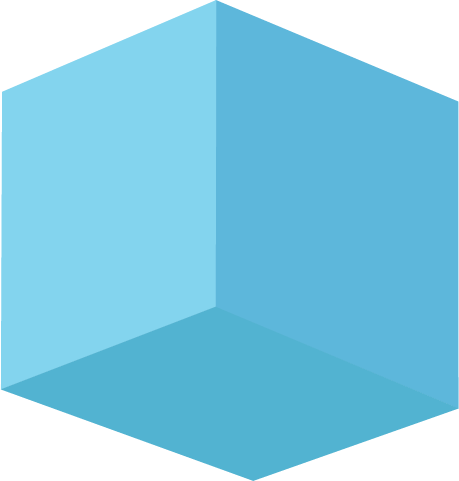 cube blue one